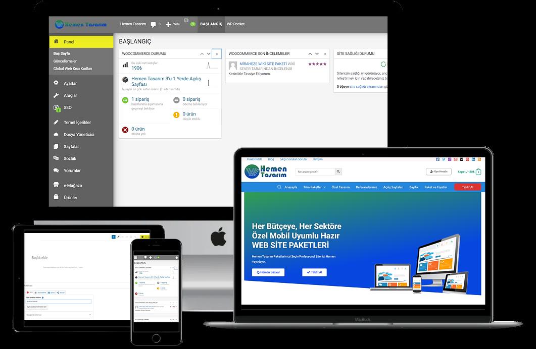 Özelleştirilmiş VIP Pro Premium Web Site Paketi